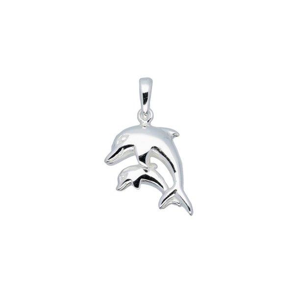 Zilveren kinderhanger - dolfijn