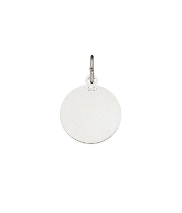 Best basics Zilveren graveerplaatje - 14 mm - rond -
