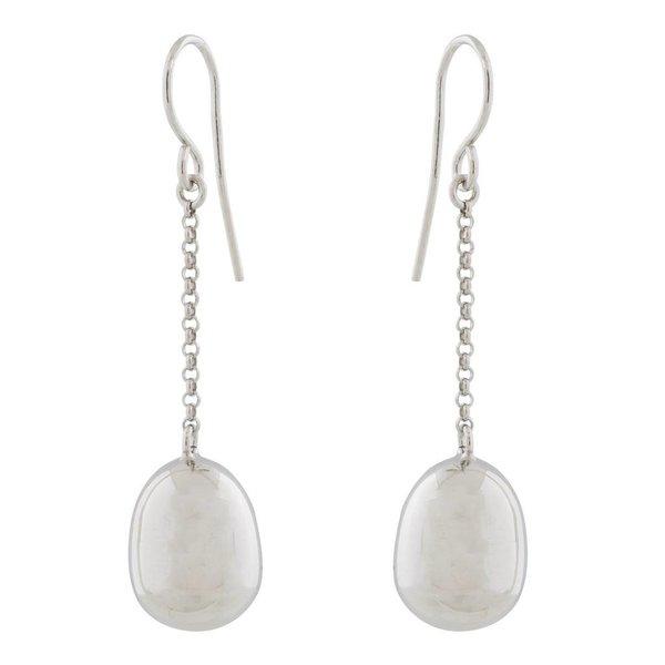 Zilveren oorbellen - jasseron met bal