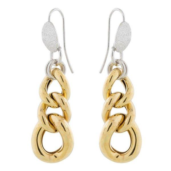 Zilveren oorbellen - grof gold-plated gourmet