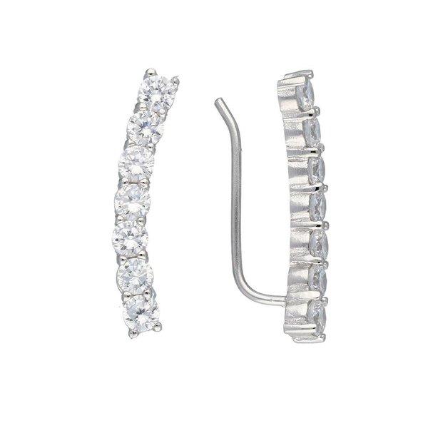 Zilveren gerodineerde earcuffs
