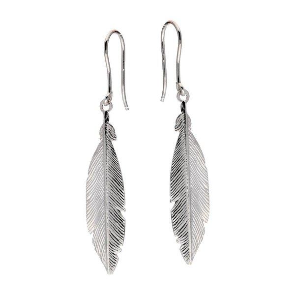Zilveren oorbellen - veer