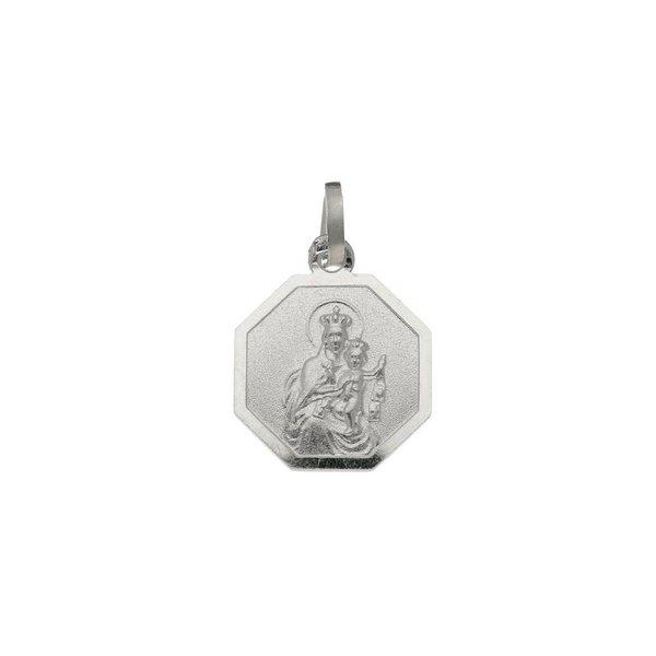 Zilveren medaille - 12 mm - achthoek