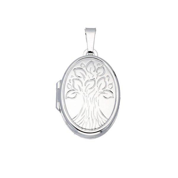 Zilveren medaillon - tree of life - 17 x 25 mm