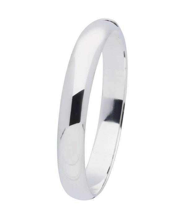Best basics Zilveren holle slavenband scharnier - ovaal 11 mm - 63 mm
