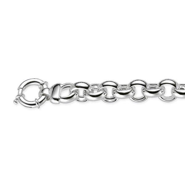 Zilveren schakelcollier - jasseron - 14 mm