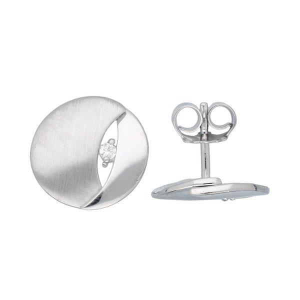 Zilveren oorknoppen elegance - gerodineerd