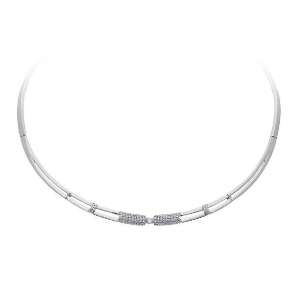 Zilveren choker - zirkonia