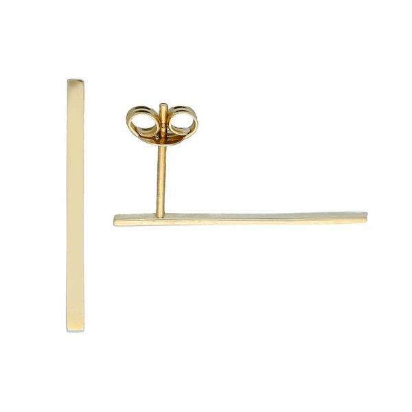 Gouden oorknoppen - platte balk