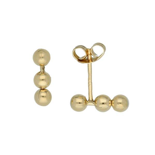 Gouden oorknoppen - 3 bolletjes