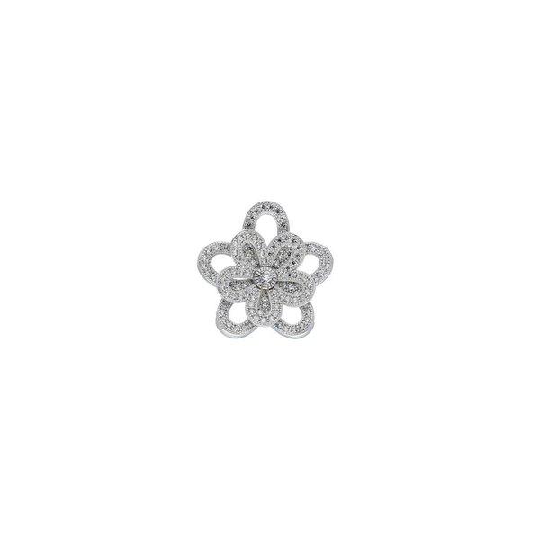 Zilveren symboolhanger - met zirkonia