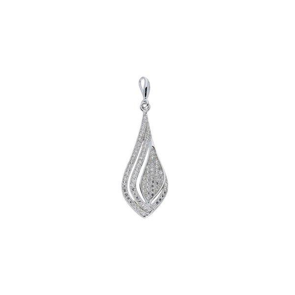 Zilveren hanger - met zirkonia