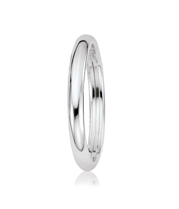 Best basics Zilveren holle slavenband dop - ovaal 9 mm - 60 mm -