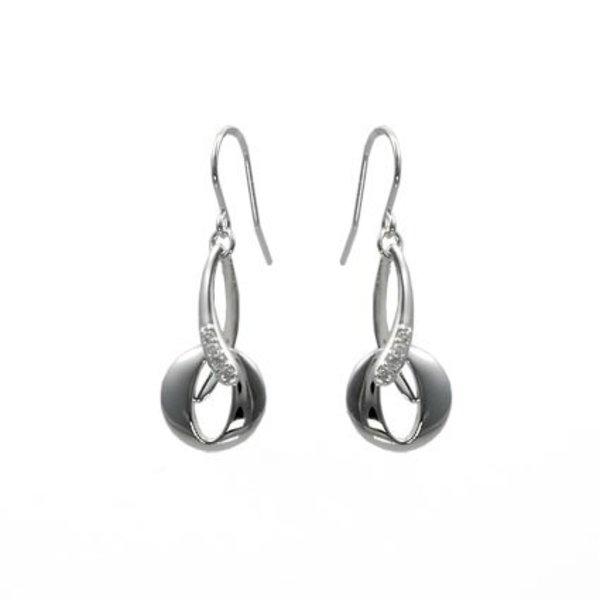 Zilveren oorhangers haak design