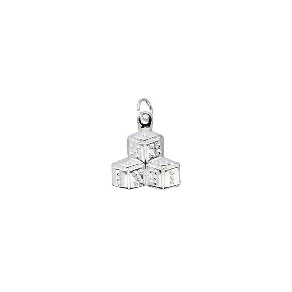 Zilveren bedel - dobbelstenen