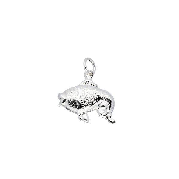 Zilveren bedel - vis