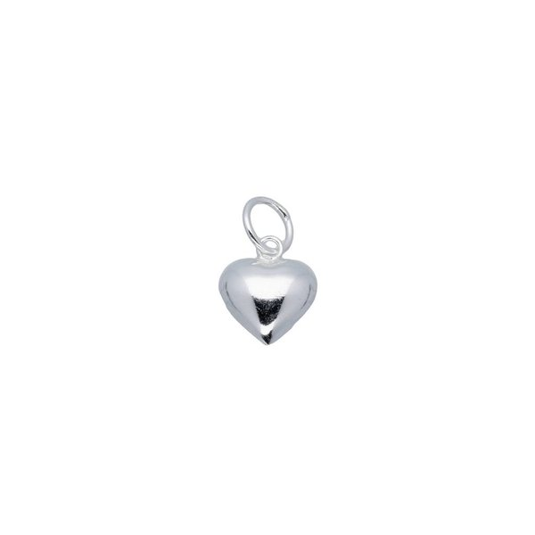 Zilveren bedel - hart 10.2 mm