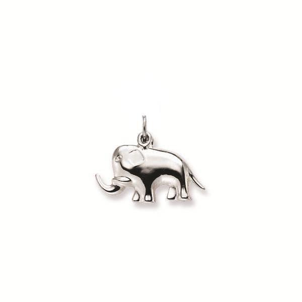 Zilveren bedel - olifant