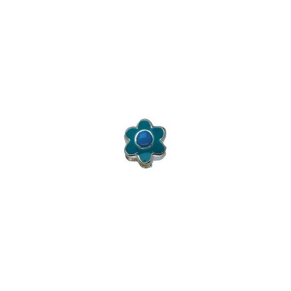 Zilveren sterrenbeeld - bloem december turquoise