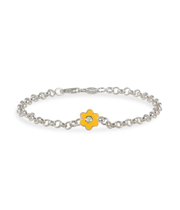 Lilly Zilveren kids aanbiedingsset - Jasseron armband met geboortesteen juni