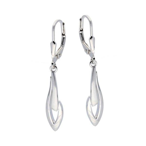 Zilveren oorhangers - mat glanzend