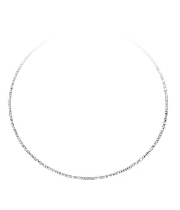 Best basics Zilveren collier palmier - 2.8 mm - 45cm