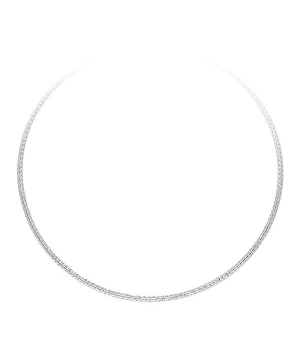 Best basics Zilveren collier palmier - 3mm - 45cm