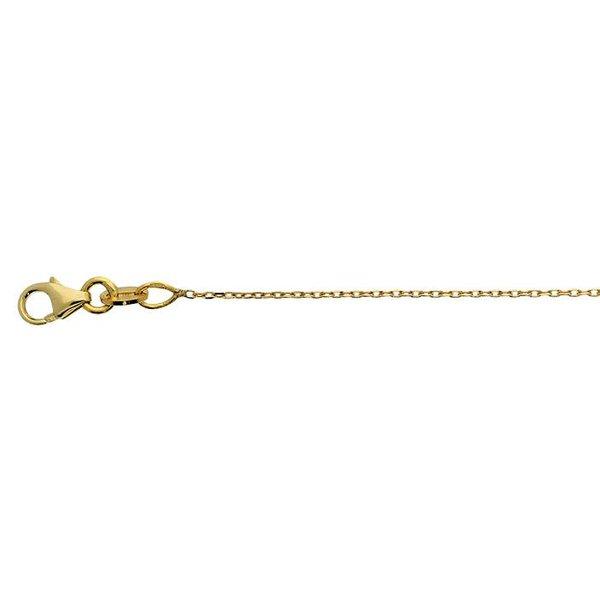 Gouden lengtecollier - anker 0.25 mm