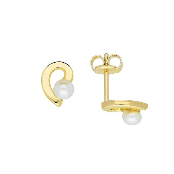 Gouden pareloorknopjes - 3 mm - glad