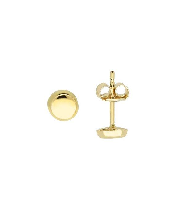 Glow Gouden symbooloorknopjes - rond - glanzend -
