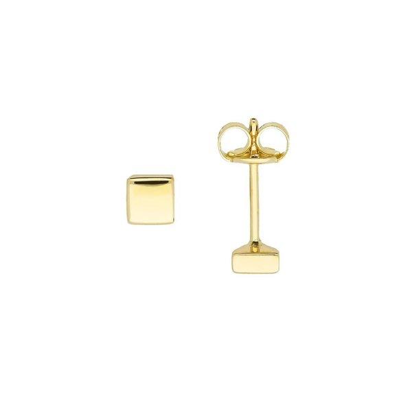 Gouden symbooloorknopjes - vierkant - glanzend