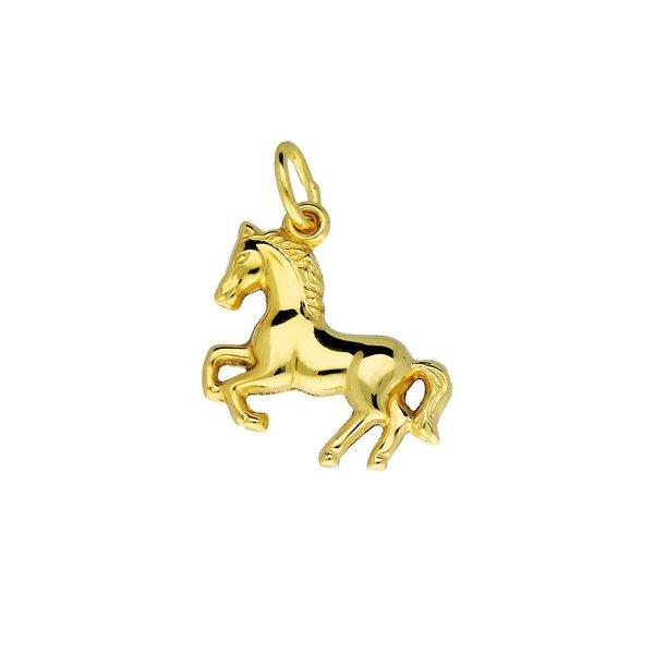 Gouden bedel - steigerend paard