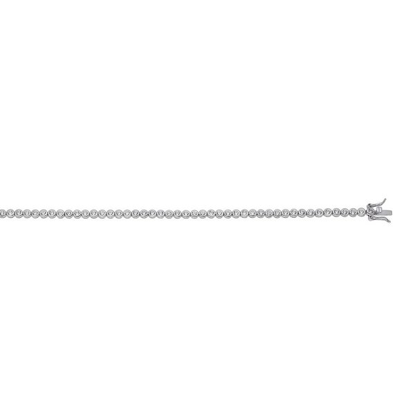 Zilveren tennisarmband - zirkonia 3.6 mm - 19 cm