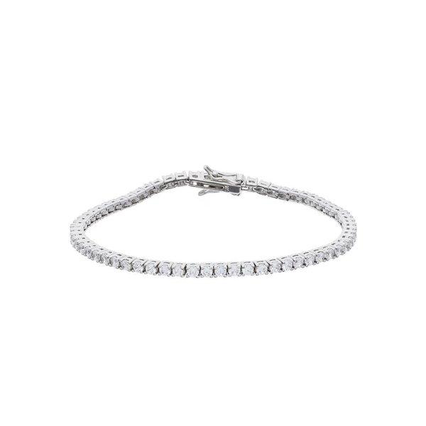 Zilveren tennisarmband - zirkonia 2.8 mm - 19 cm