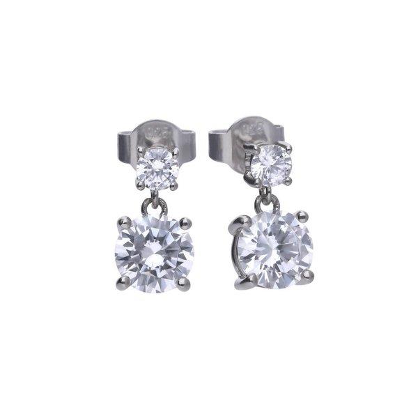 Zilveren oorhangers diamonfire