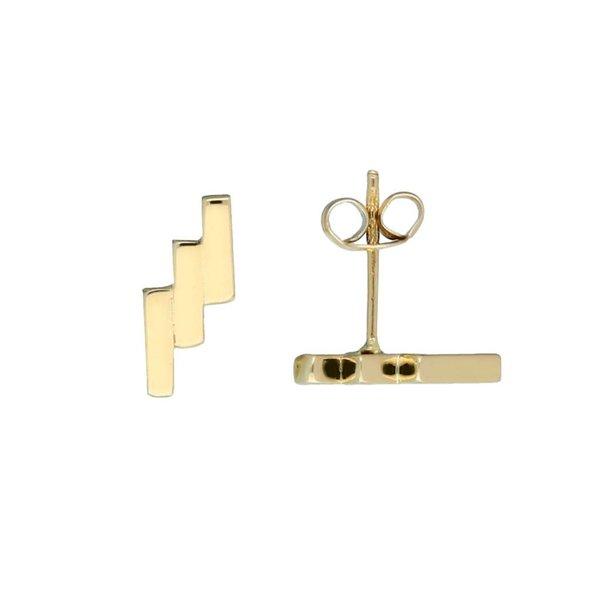Gouden oorknoppen - 3x balk