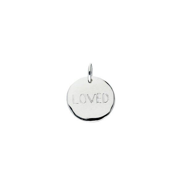 Zilveren hanger - loved