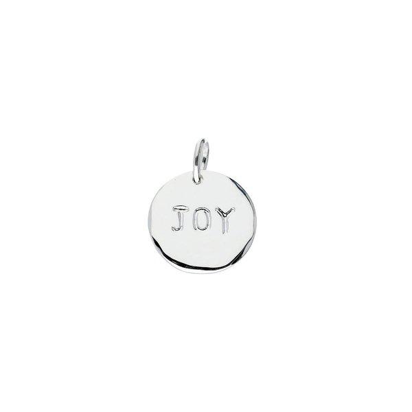 Zilveren hanger - joy
