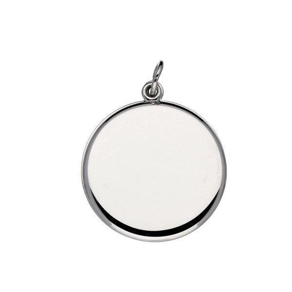Zilveren medaillon - 22 mm – rond