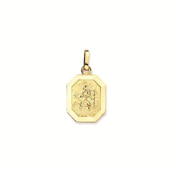 Gouden christoffel - 12 mm - achtkant