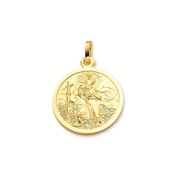 Gouden christoffel - 18 mm - rond - gladde rand