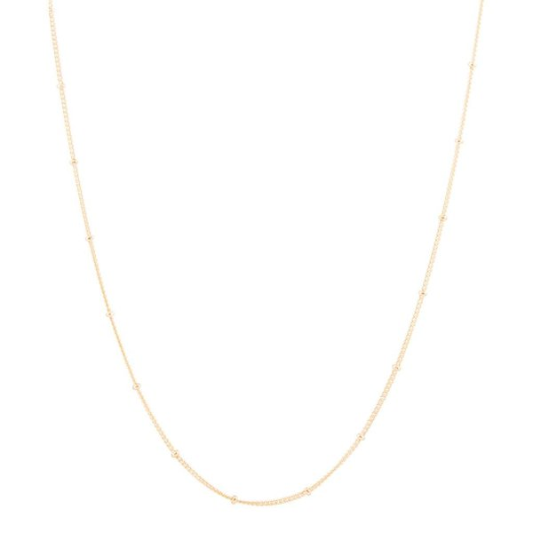 Zilveren gold-plated lengtecollier - gourmet 1 mm