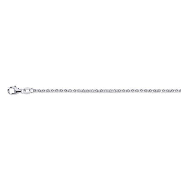Zilveren gerodineerd lengtecollier - jasseron 2 mm