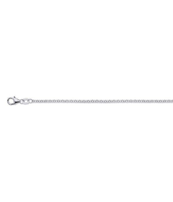 Best basics Zilveren gerodineerd lengtecollier - jasseron 2 mm - 50 cm