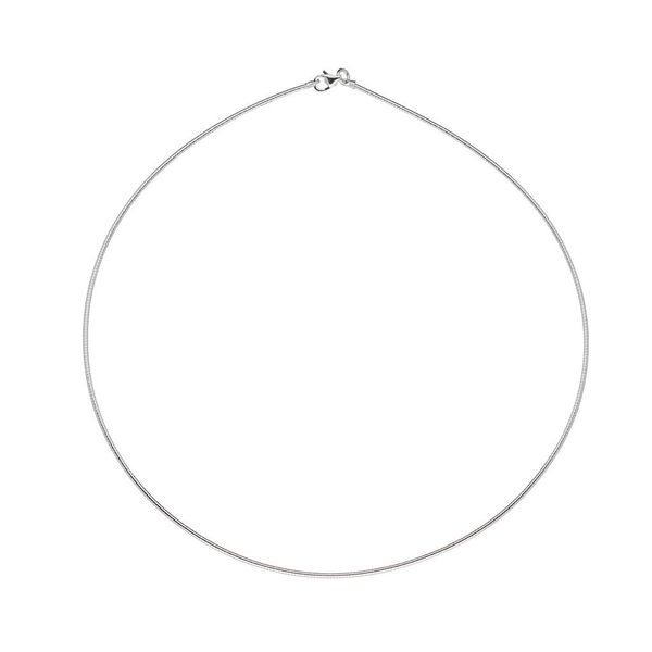 Zilveren omegacollier - rond 1.5 mm