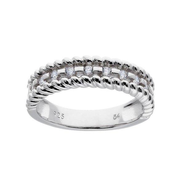 Zilveren damesring - met zirkonia