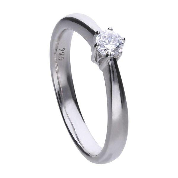 Zilveren solitaire ring diamonfire - 0.25 ct