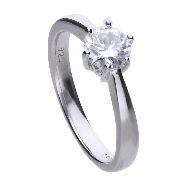 Zilveren solitaire ring diamonfire - 1.00 ct