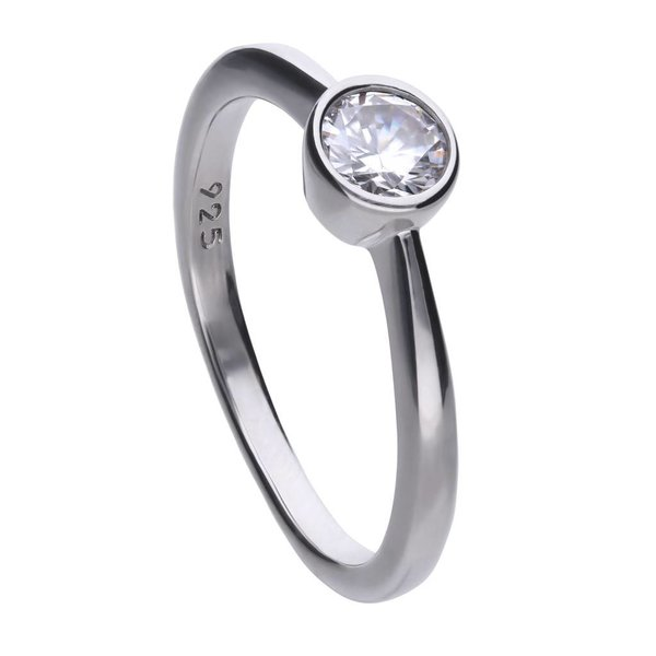 Zilveren solitaire ring diamonfire - 0.50 ct