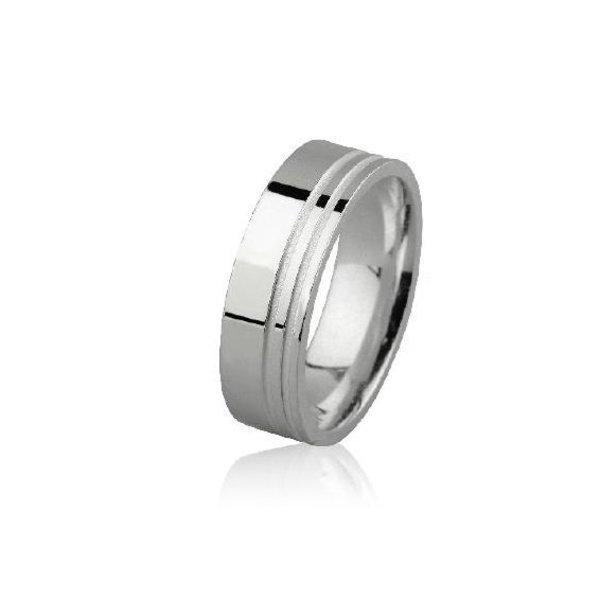 Zilveren vriendschapsring - 6 mm - glanzend